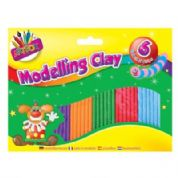 Artbox Modelling Clay Plasticine 6 Colourful Strips